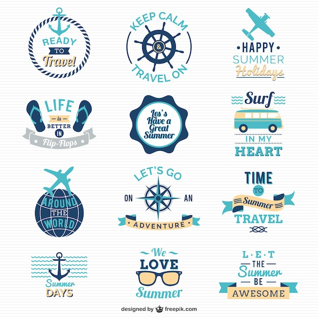 Traveling and sailing logos Vector | Free Download
