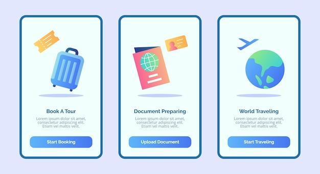 03 mẫu UI giao diện ứng dụng di động về du lịch