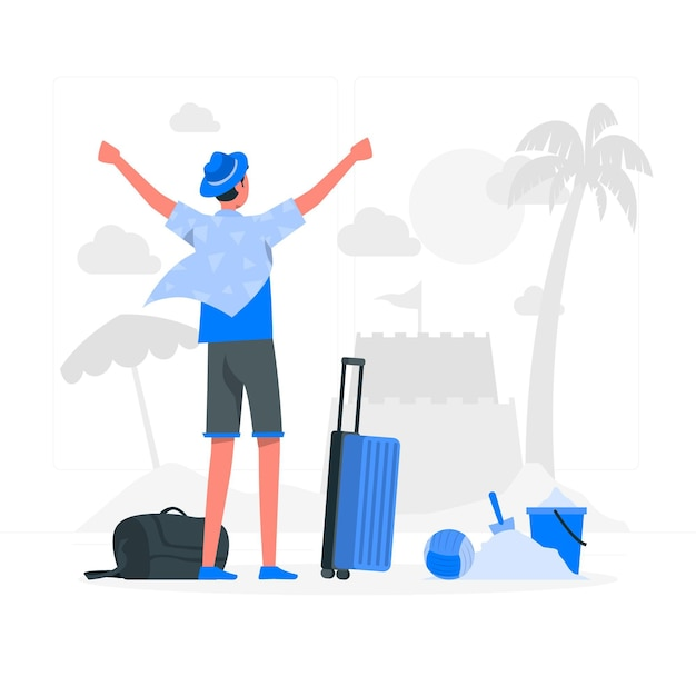 Travelingconcept illustration Free Vector