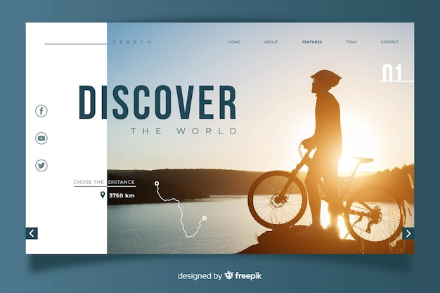Traveling concept for landing page template Free Vector