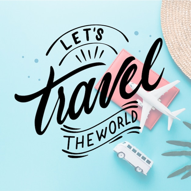 Traveling concept for lettering Free Vector