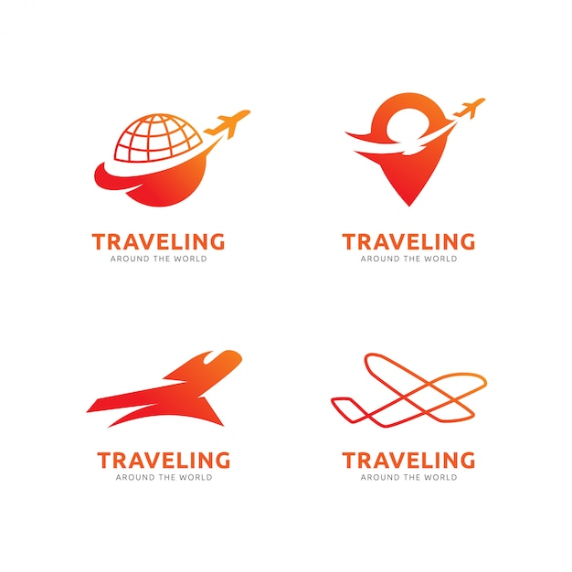 Traveling logo template Premium Vector