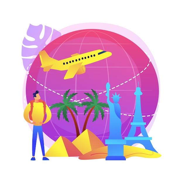 Путешествие по миру иллюстрация Бесплатные векторы
