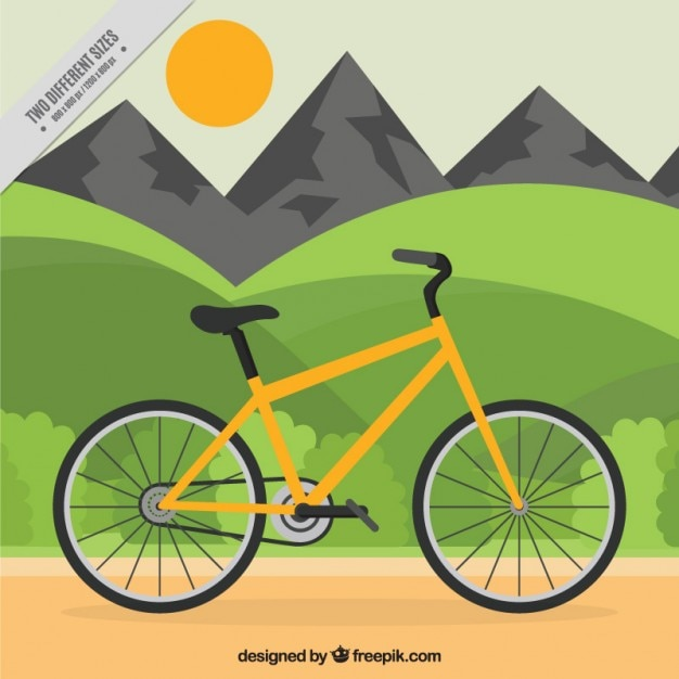 Traveling with a bicycle background Vector | Free Download
