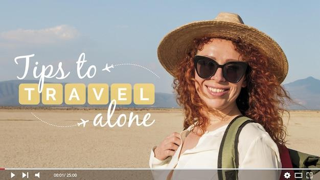 旅行vloggerのサムネイル 無料ベクター