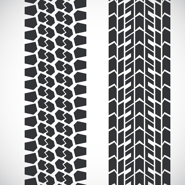 Tread pattern tyre. Premium Vector