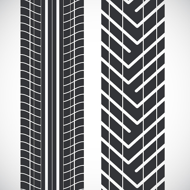 Tread pattern tyre. Premium Vector