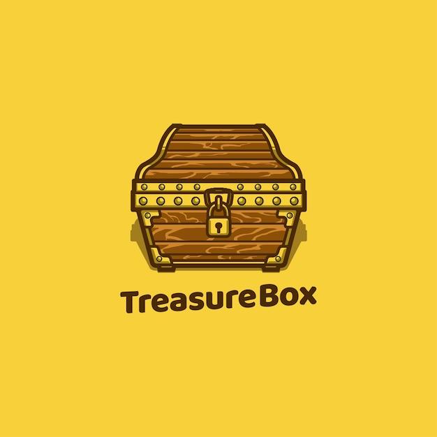 トレジャーチェストボックス木製海賊 Premiumベクター
