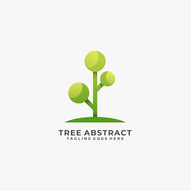 Дерево абстрактный логотип. Premium векторы
