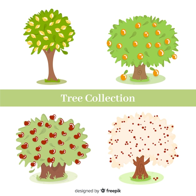 Tree collection Free Vector