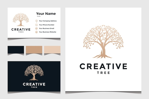 Tree concept for a business logo Premium Vector