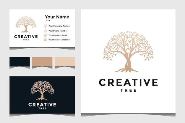 ビジネスロゴのツリーコンセプト Premiumベクター