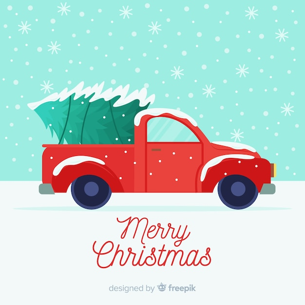 tree delivery truck christmas background 23 2148012747