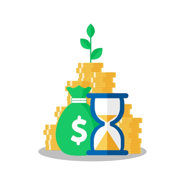 Tree Growing On Coins Stack With Mutual Fund Income Increase