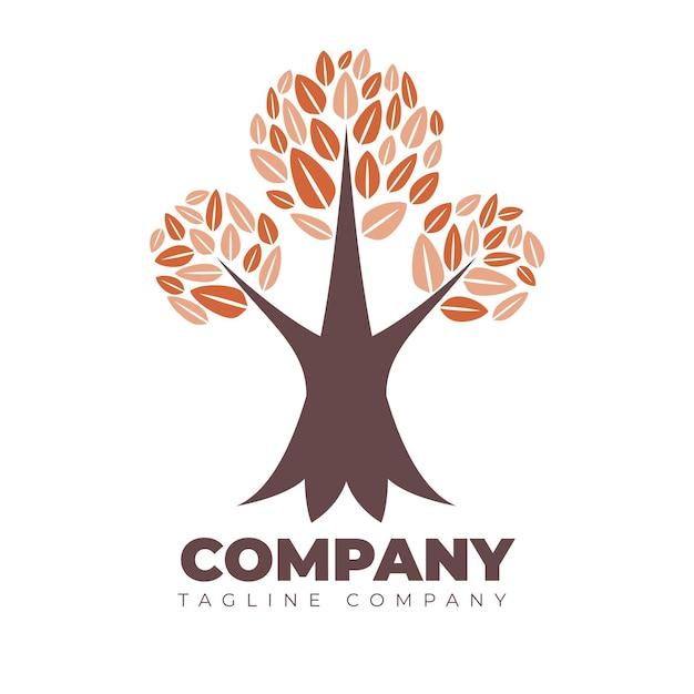 Tree life company logo template Free Vector
