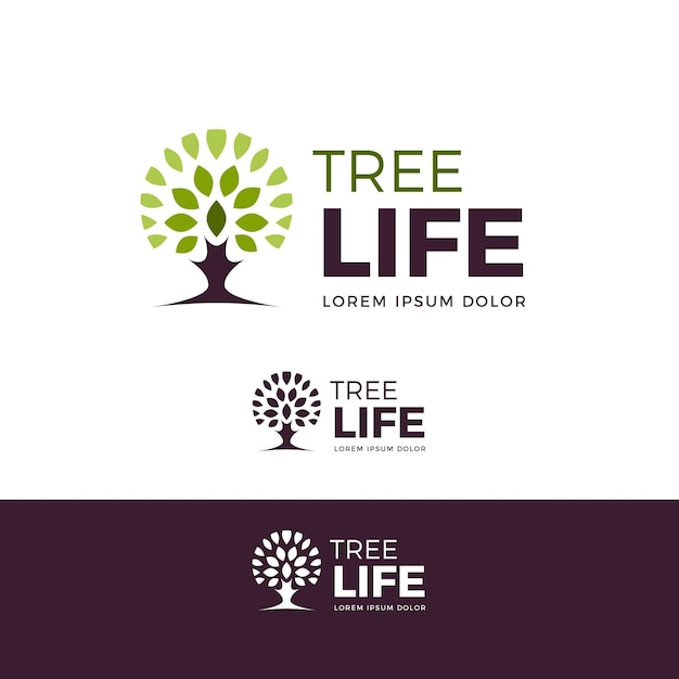 Tree life logo template Premium Vector