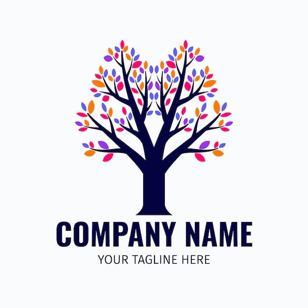 Modello di logo di vita dell'albero Vettore gratuito