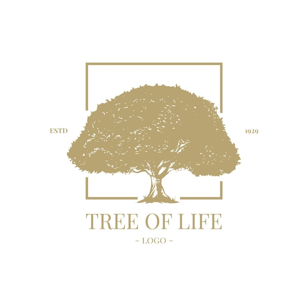 Tree life logo template Premium Vector