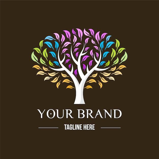Tema del logo della vita dell'albero Vettore gratuito
