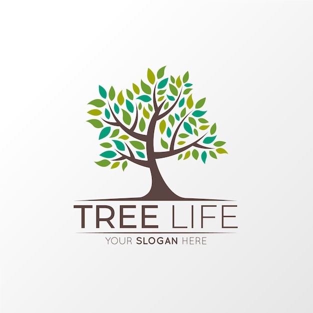 Tree life logo Free Vector