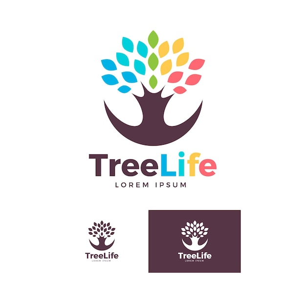 Logo della vita dell'albero Vettore gratuito