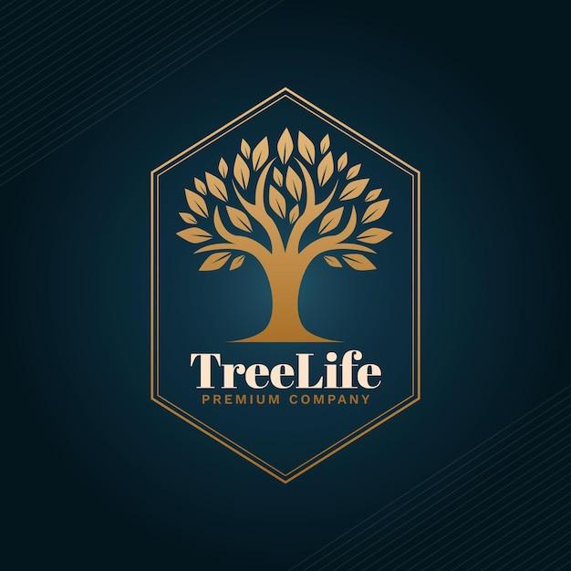 Логотип дерева жизни Бесплатные векторы
