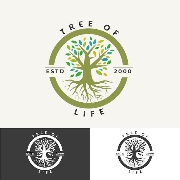 Tree life logo Premium Vector