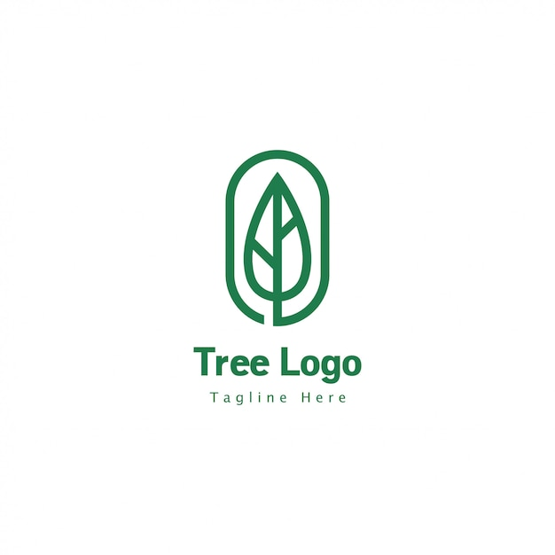 Tree logo geometric Premium Vector
