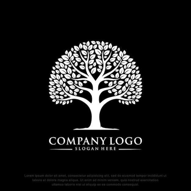 Tree logo inspiration flat design Premium Vector