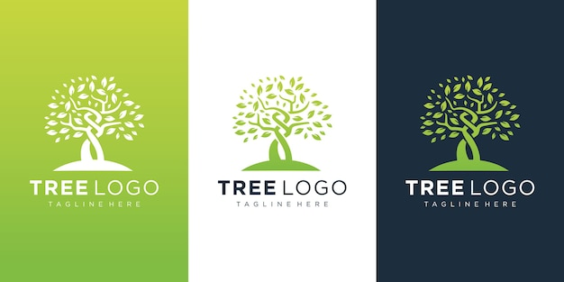 Tree logo  template Premium Vector