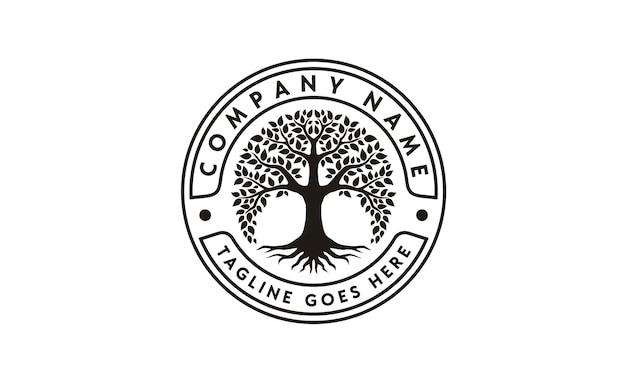 Древо жизни дизайн логотипа вдохновения Premium векторы