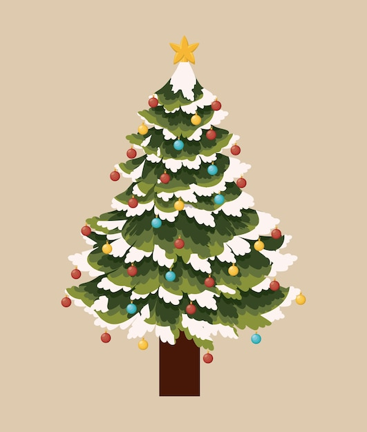 Tree pine christmas icon vector graphic illustration Premium Vector