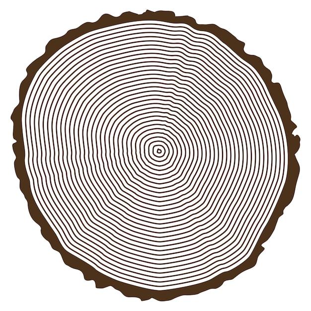 Tree Ring Design Free Vector