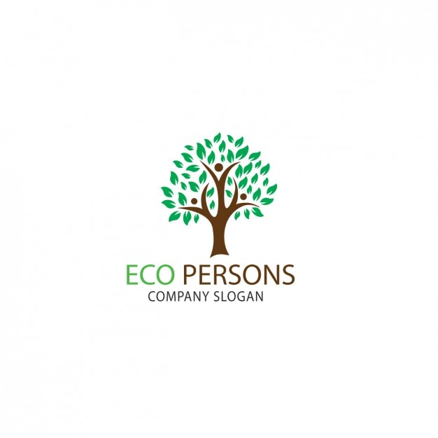 Tree shape logo template Free Vector