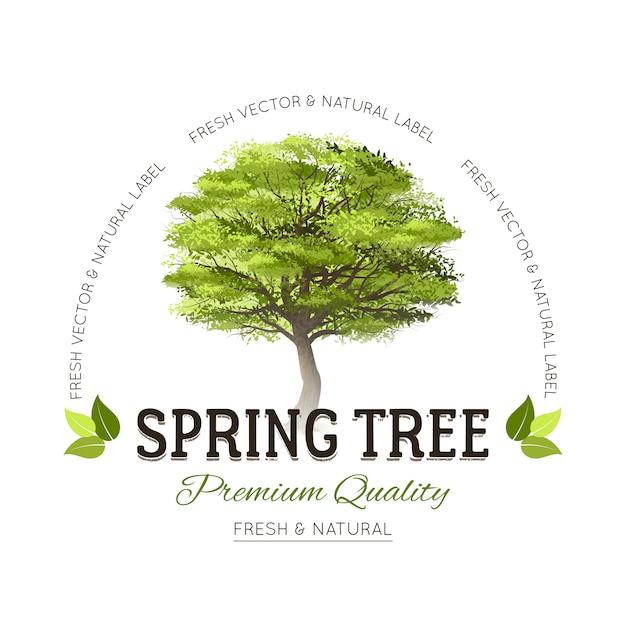 Tree typography logo Free Vector