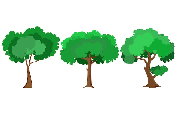 Tree vector flat design Premium Vector