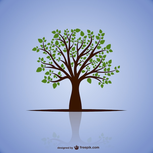 Tree with green leaves Vector | Free Download