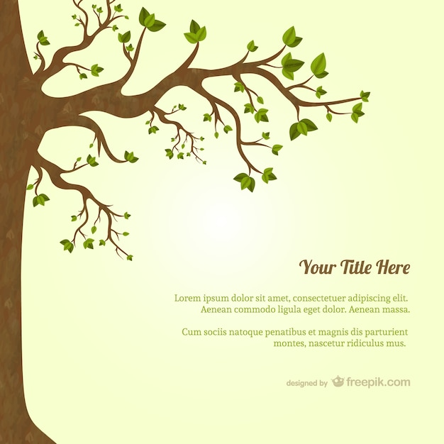Tree with leaves template Free Vector