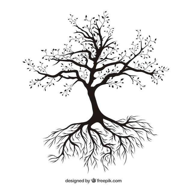 Tree with roots vector free download - Tree images free download ...