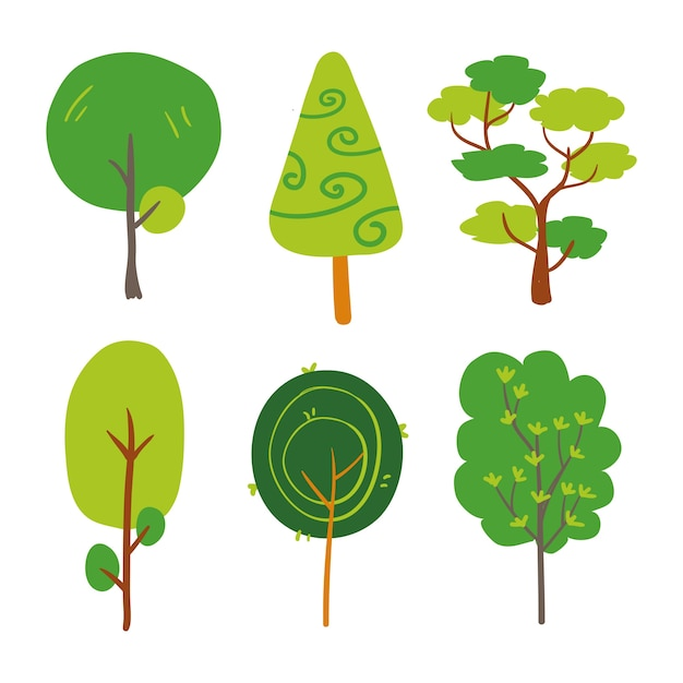 Trees collection Free Vector