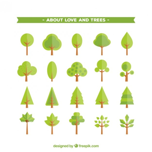 Trees icons Premium Vector