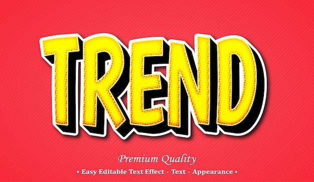 Trend 3d editable text style effect Premium Vector
