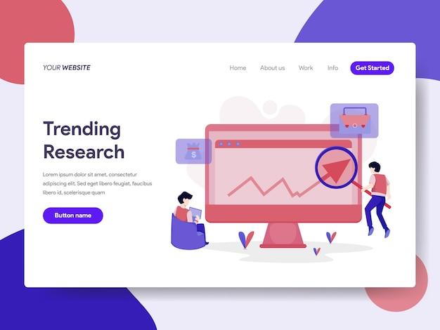 Trending keyword research illustration Premium Vector