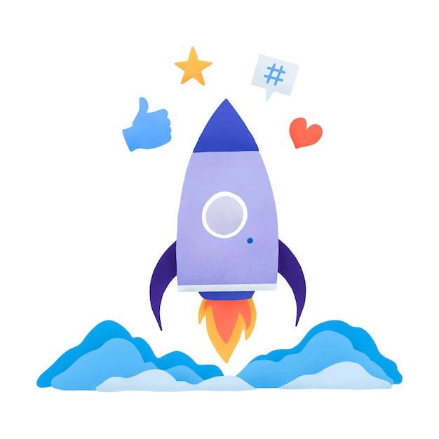Trending on social media vector Free Vector