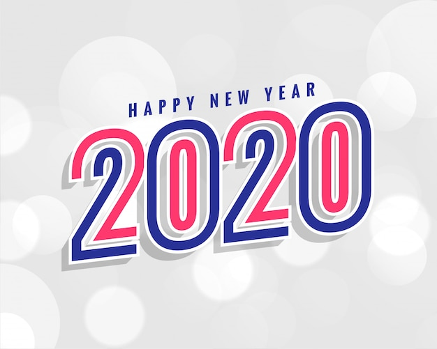Trendy 2020 new year background in stylish Free Vector