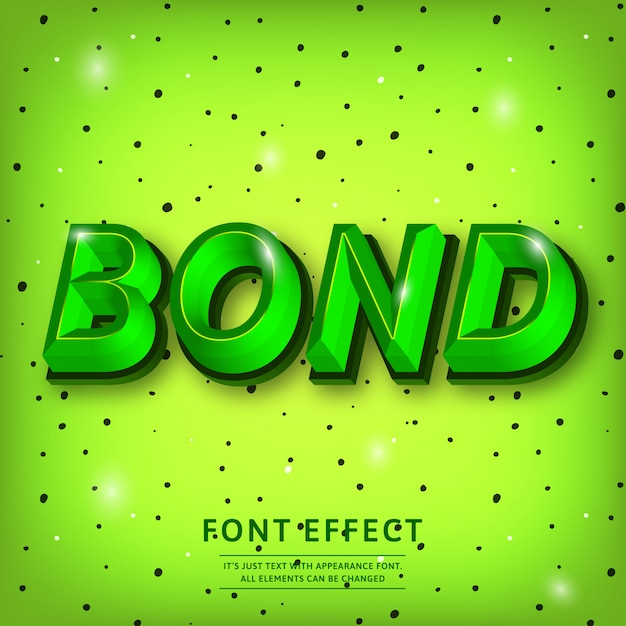 Trendy 3d typeface text effect title Premium Vector