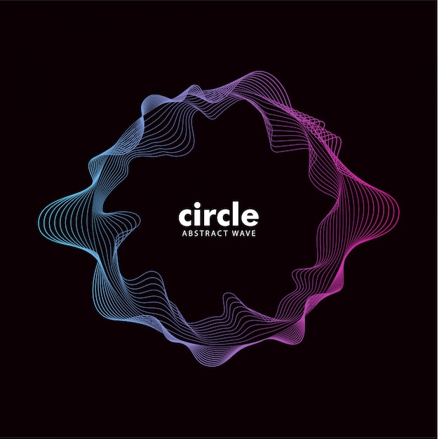 Trendy abstract cirlce wave sound effect Premium Vector