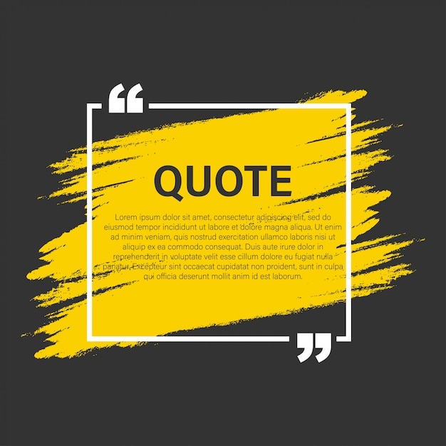 Trendy block quote modern elements  creative quote and comment text frame template Premium Vector