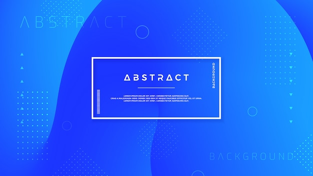 Trendy blue flow background. Premium Vector