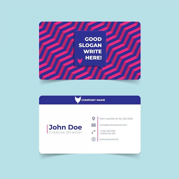 Trendy geometric business card print template. Premium Vector